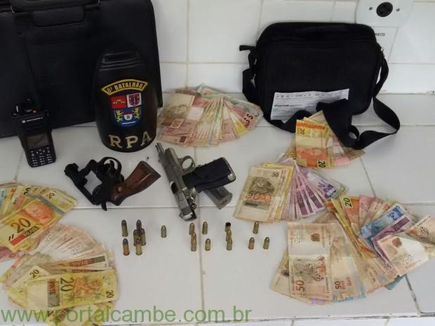 Suspeitos foram reconhecidos por outros comerciantes assaltados, diz polícia. (Foto: Polícia Militar/Divulgação)
