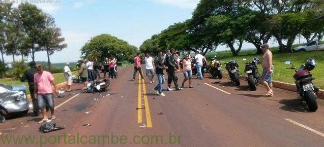 Motociclistas de Londrina se envolve em grave acidente na cidade de Sertaneja-PR
