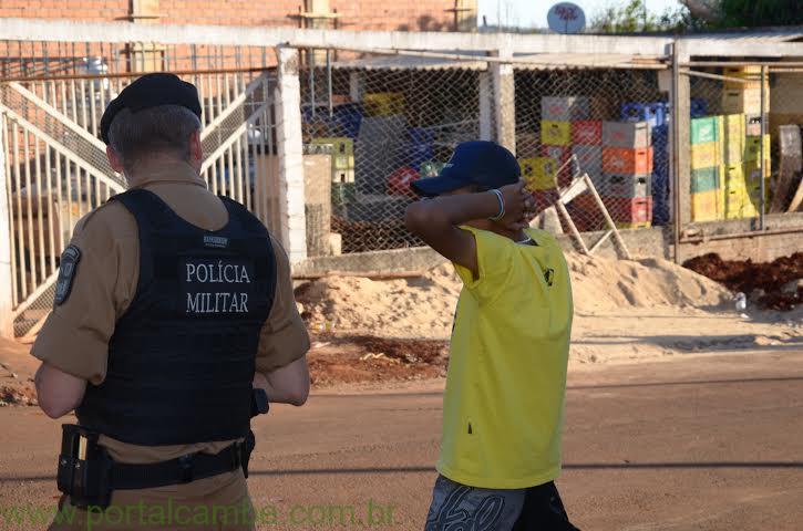 POLICIAIS MILITARES REALIZAM A APREENSÃO DE ARMA DE FOGO, MUNIÇÃO E ENTORPECENTE