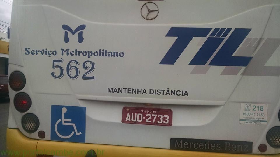 Ônibus da linha Cambé/Ibiporã em péssimas condições de uso