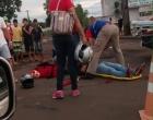 Colisão Auto x Moto deixa jovem de 21 anos ferido em Cambé