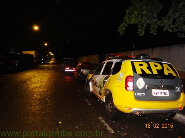 Polícia Militar de Cambé recupera veículo furtado