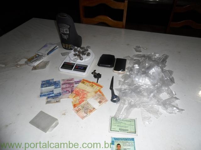 Polícia Militar de Cambé apreende drogas no Jardim Novo Bandeirantes