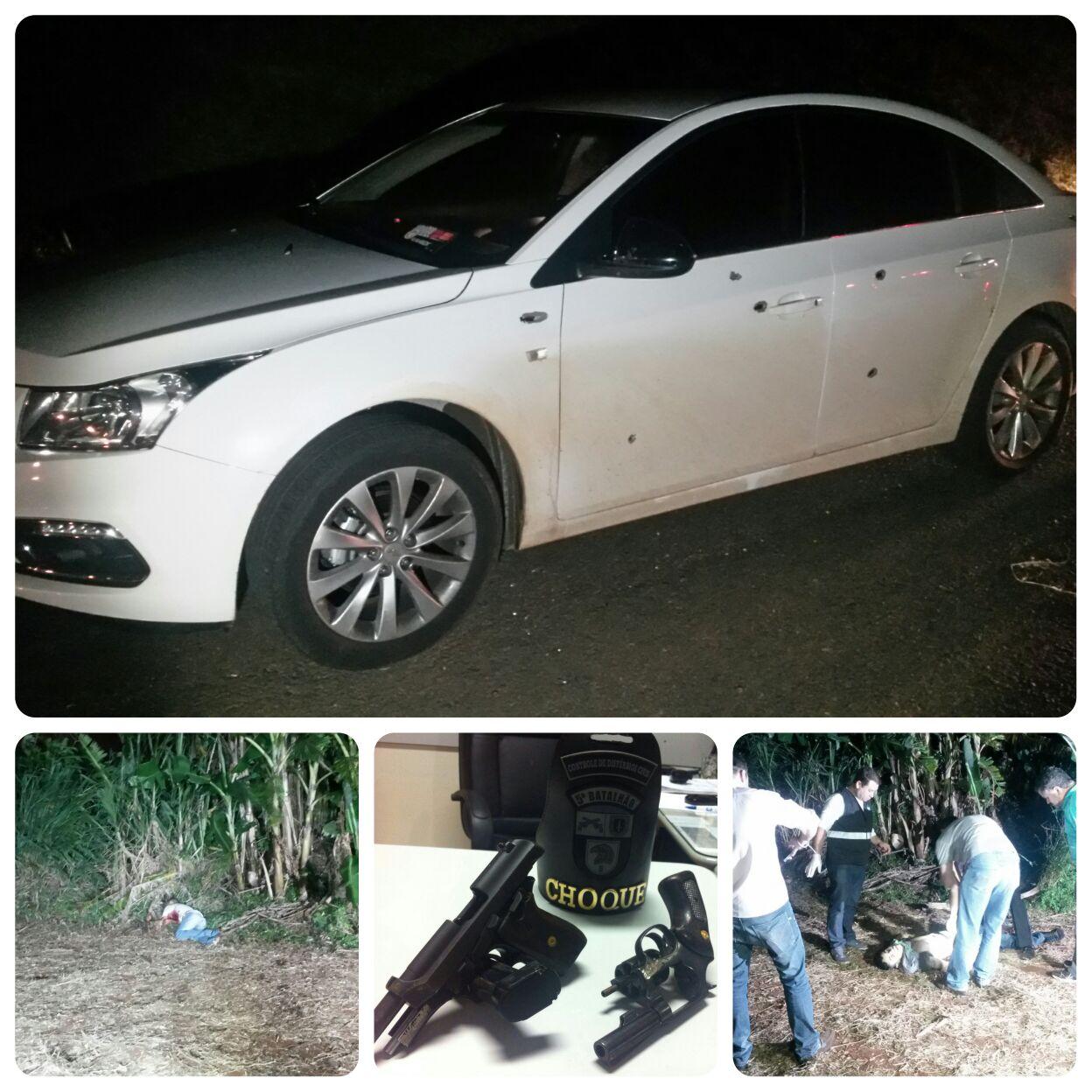 Dupla rouba veículo em Londrina e morre em troca de tiros com PMs
