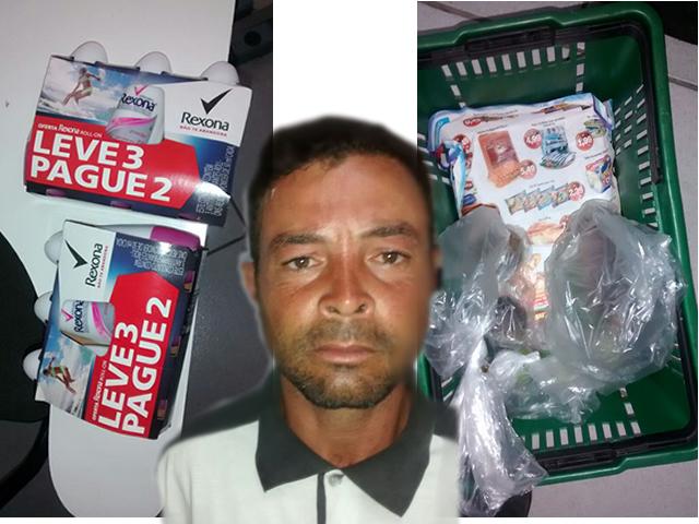 Homem é detido por furtar em supermercado na Av. Brasil em Cambé