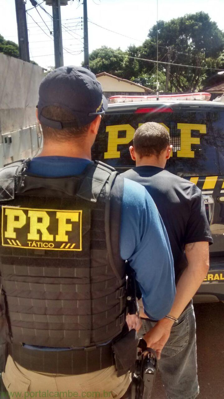 PRF prende homem com mandado de prisão na BR 376