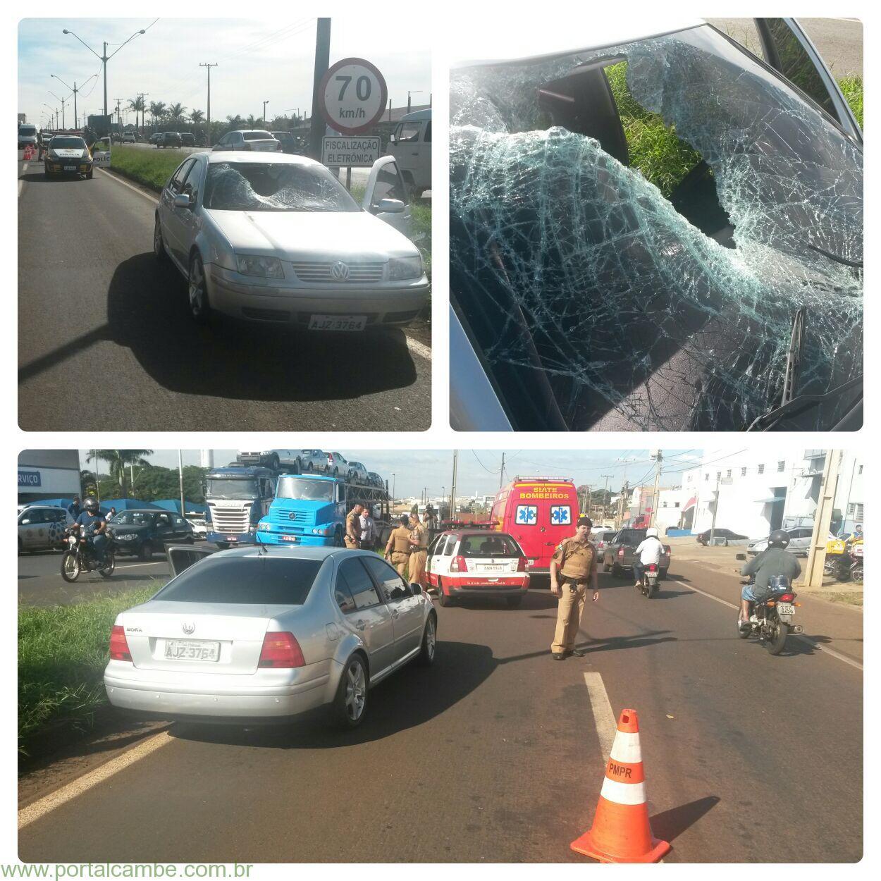 Idoso vem a óbito após ser atropelado na BR 369 em Londrina