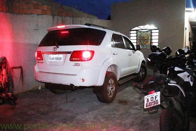 Polícia Militar de Cambé recupera camionete roubada no Mato Grosso