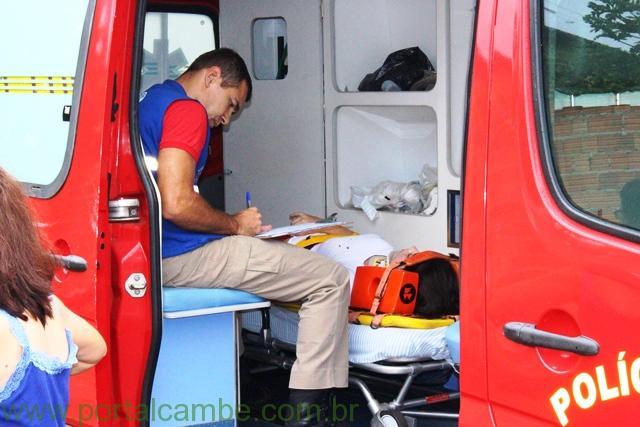 Jovem de 21 anos fica ferida após acidente no Jardim Ana Rosa em Cambé