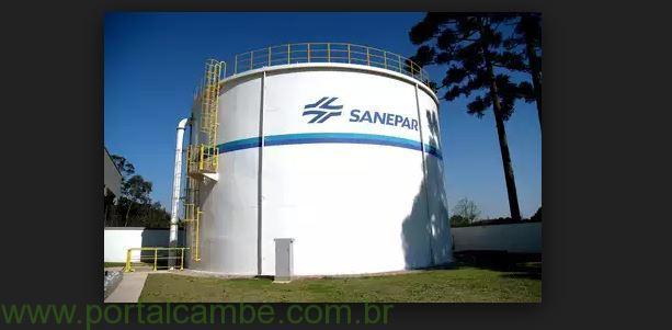 Sanepar alerta o abastecimento de água em bairros de Cambé será interrompido no domingo dia 26