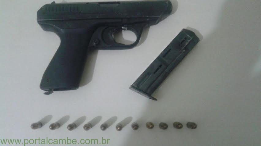 5ºBPM – APÓS DENUNCIAS DE POPULARES POPULARES PRENDEM HOMEM COM ARMA DE CALIBRE RESTRITO