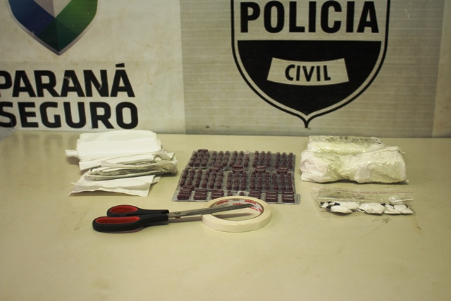 Operação da Polícia Civil de Cambé prende casal com mais de meio quilo de cocaína