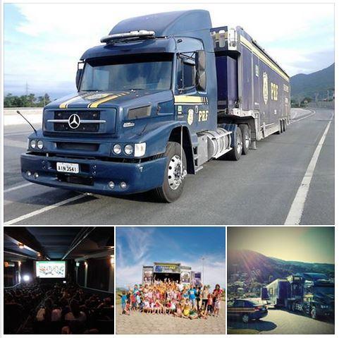 Caminhão da PRF com sala de cinema chega ao Paraná nesta terça-feira