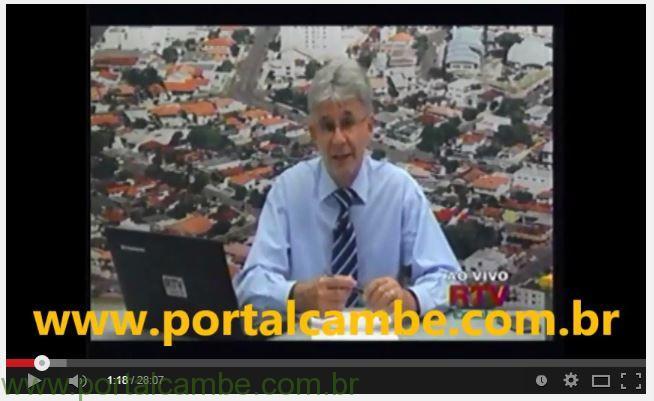 Assista na integra o Jornal da RTV Canal 36 Cambé – Apresentação Bêne Filho (Vídeo)