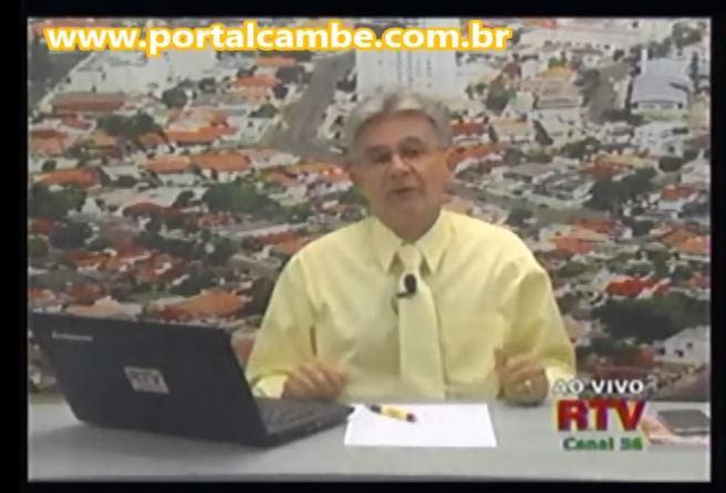 Jornal da RTV Canal 36 Cambé de 13/05/2015 – Apresentação Bêne Filho