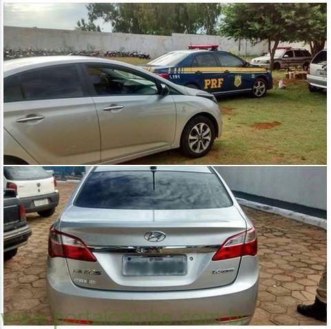 Abordado pela PRF, casal com filho de 3 anos conduzia no PR carro roubado
