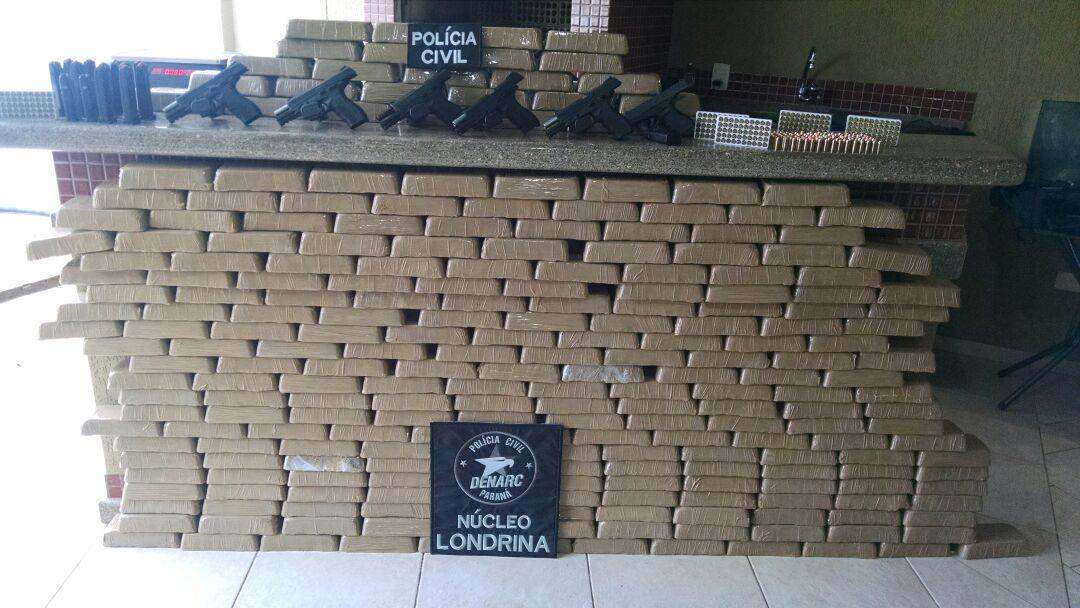 Polícia Civil de Cambé apreende mais de 250 kg de pasta base para cocaína