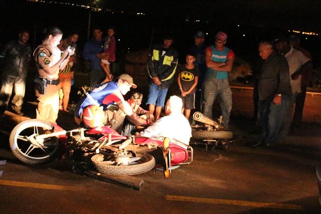 Colisão entre duas motocicletas deixa homem com ferimentos graves em Cambé