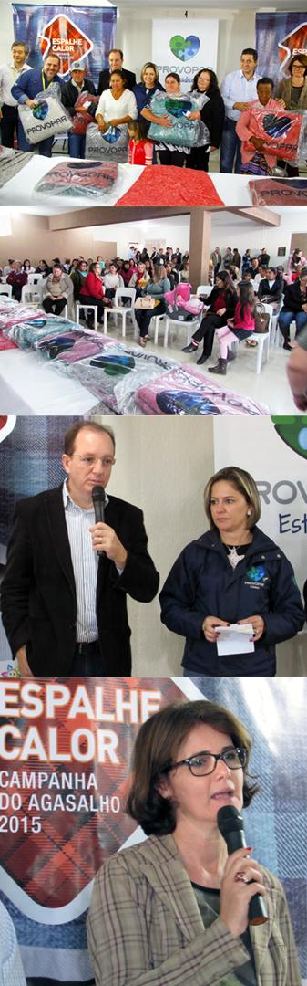 Provopar entrega cobertores para famílias e instituições cambeense