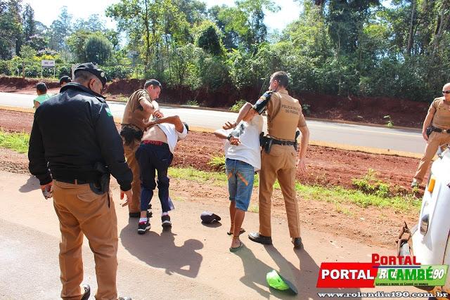 Suspeitos de furto em Cambé são presos em Rolândia