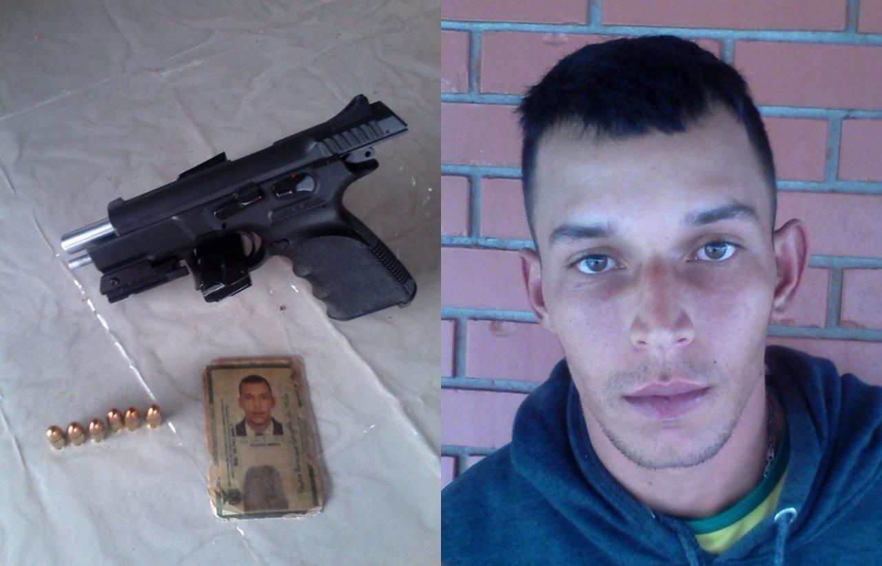 Polícia Militar prende homem com pistola 9mm com mira a laser em Cambé