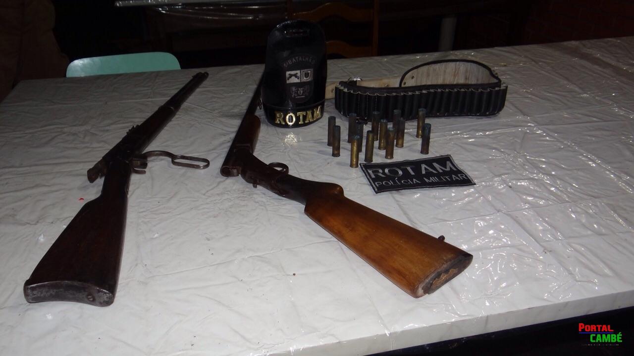 Homem é preso por posse ilegal de arma de fogo no Jardim Ana Rosa em Cambé