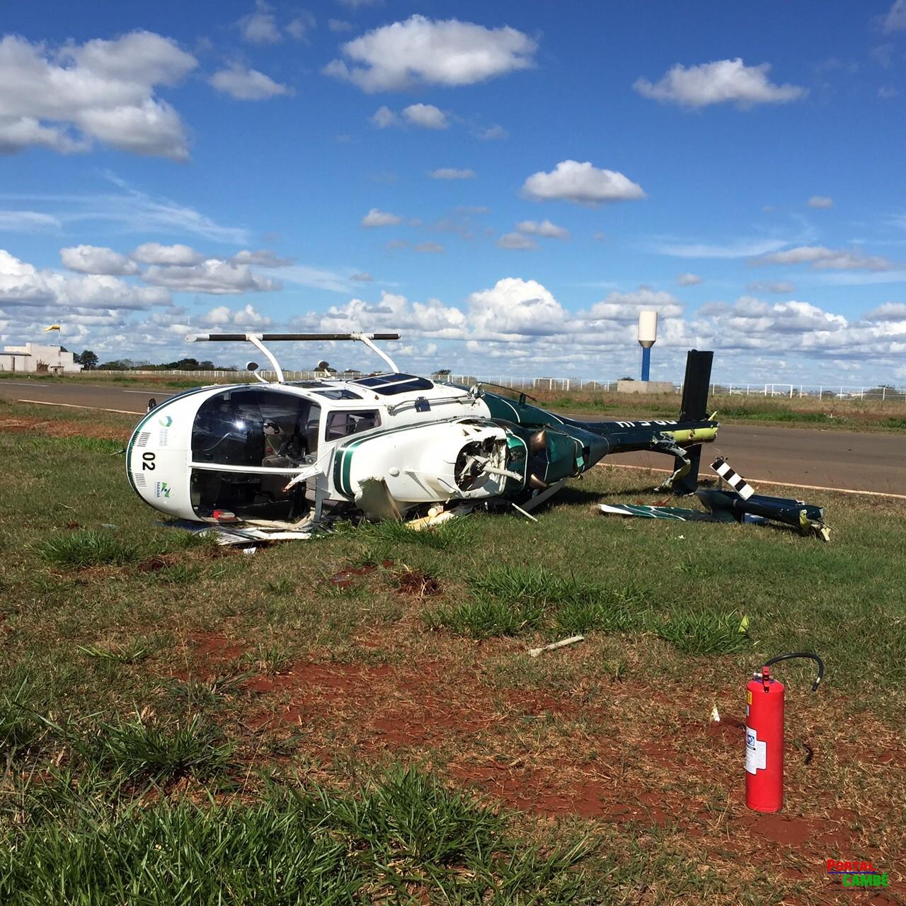 Helicóptero do GRAER de Londrina faz pouso forçado no Aeroporto 14 Biz
