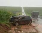 Casal se fere após carro capotar cinco vezes na PR-445 entre Cambé e Bela Vista do Paraíso