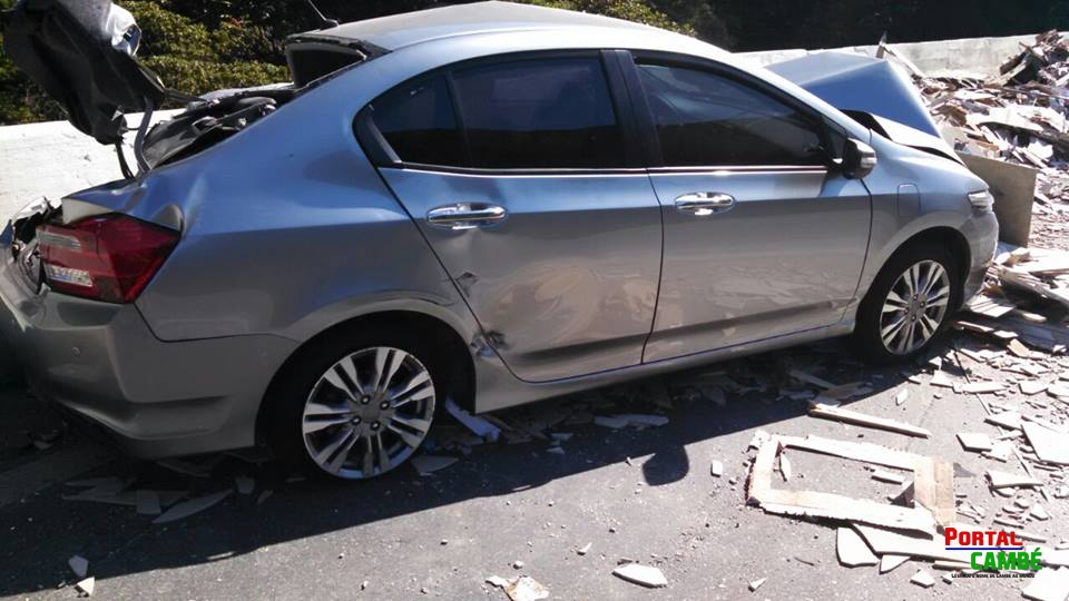 Caminhão perde os freios e motorista morre na BR 376; outras duas pessoas saem feridas, entre elas uma gestante