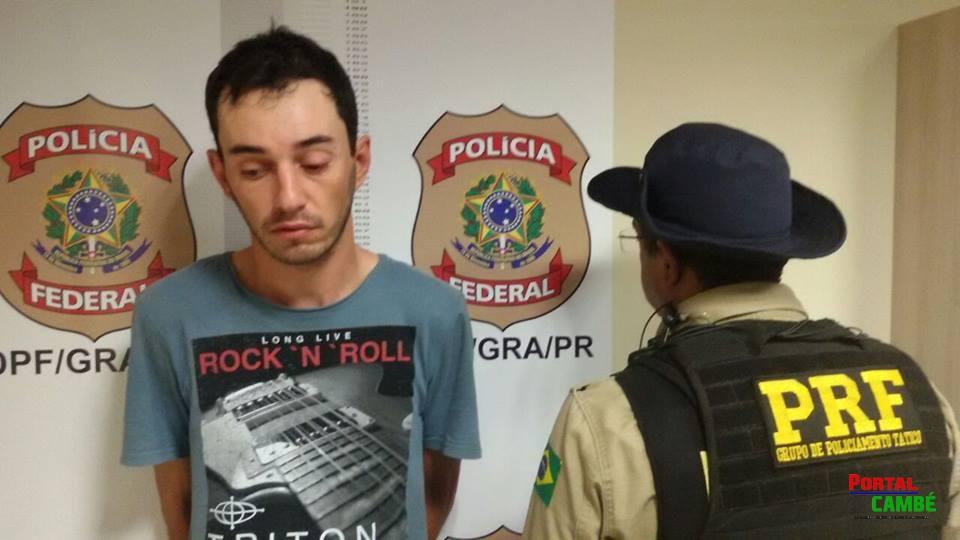 PRF recaptura no Paraná fugitivo de presídio gaúcho condenado a 49 anos de prisão