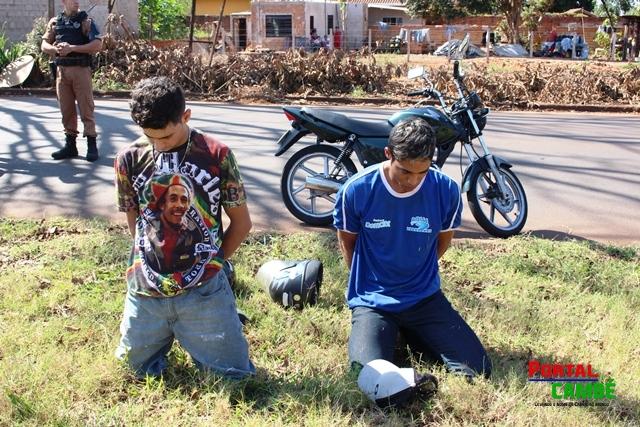 Bandidos são presos logo após praticarem roubo em comércio de Cambé