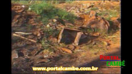 Lixo tóxico é descartado em local proibido em Cambé (Vídeo)
