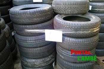 Receita Federal faz doação de 310 pneus a Prefeitura de Cambé