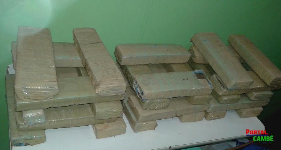 Polícia Militar apreende de 28 kg de maconha