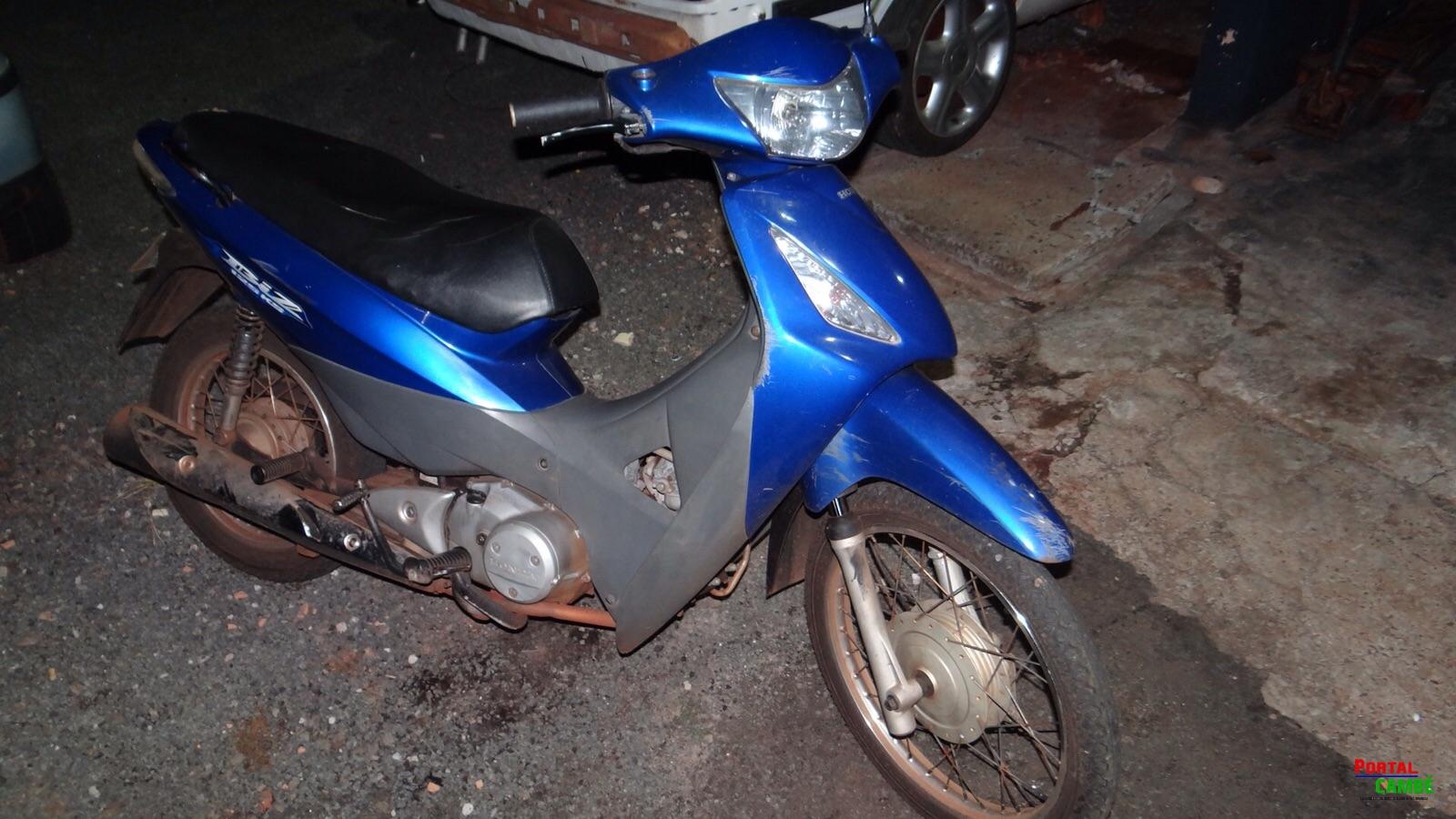 Motocicleta furtada em 2010 é recuperada pela Polícia Militar no Centro de Cambé
