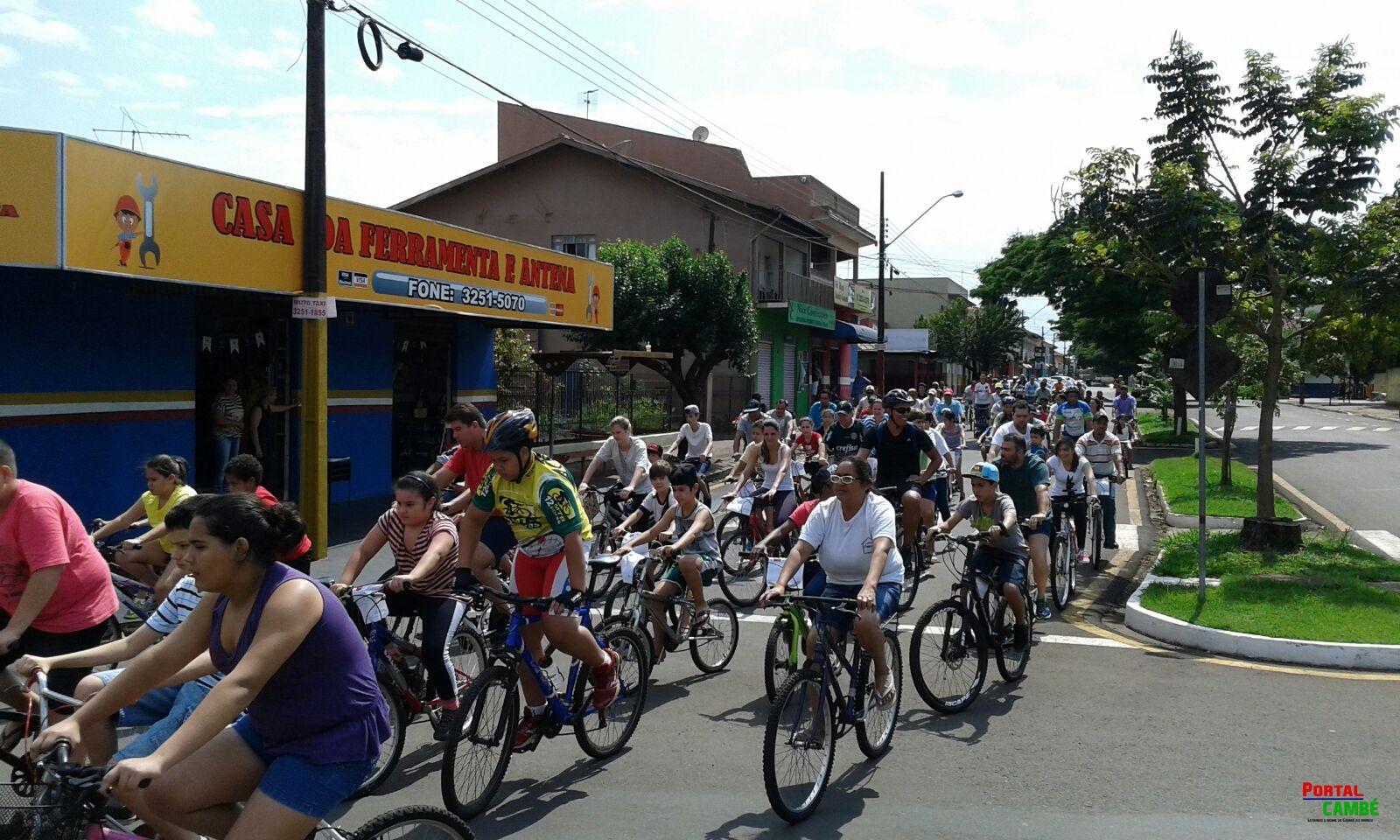 Passeio ciclístico realizado no Jardim Santo Amaro foi um sucesso