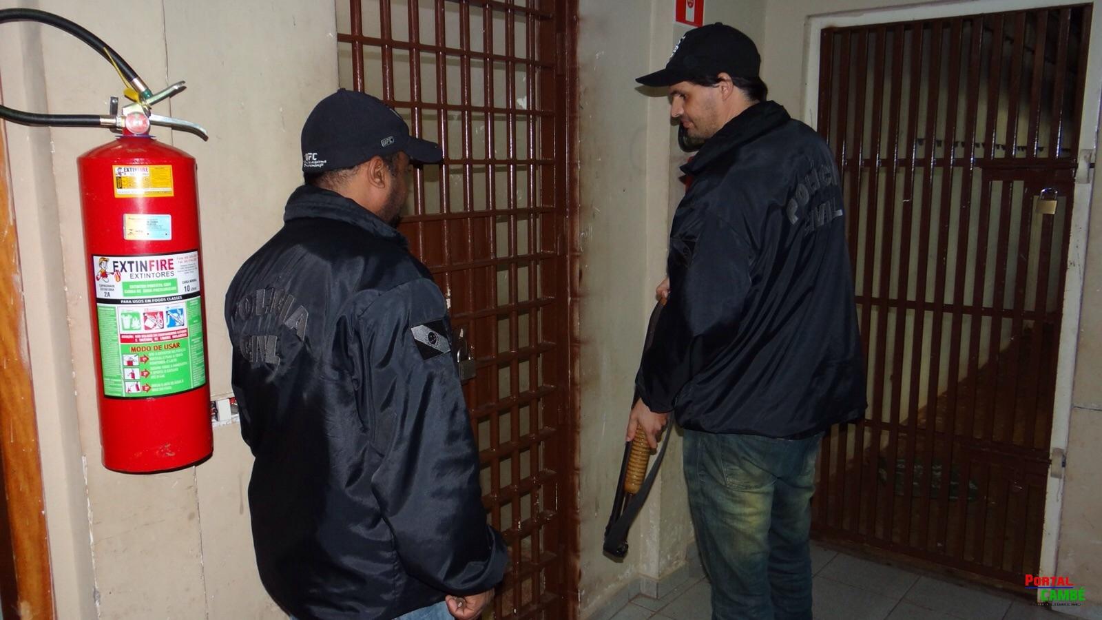 Policiais e Agentes Penitenciários impedem fuga de presos da Delegacia de Cambé