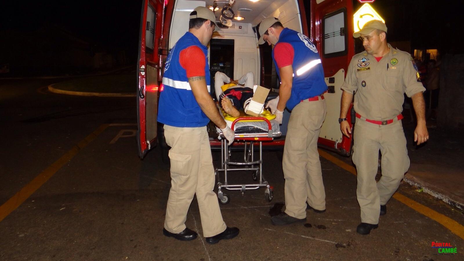 Acidente no Jardim Santo Amaro deixa um jovem com ferimento grave