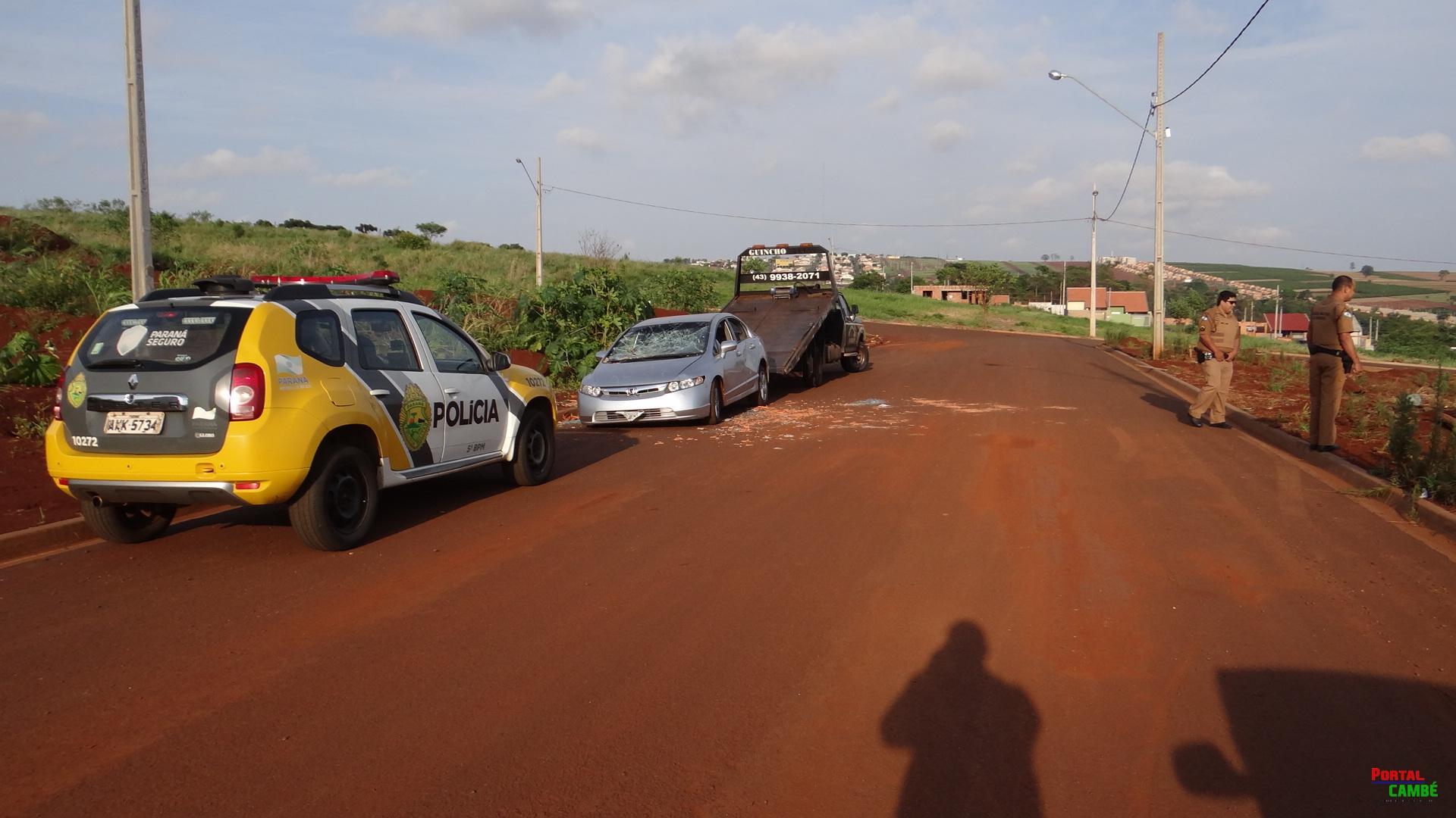 Veículo roubado em Rolândia é encontrado abandonado no Jardim Cidade Alta em Cambé
