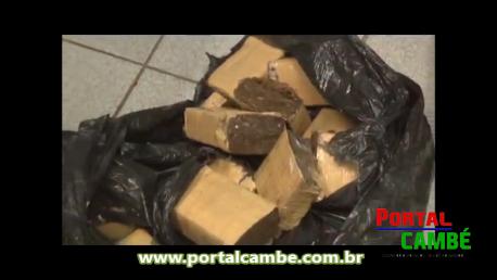 Policia Civil de Cambé incinerou uma grande quantidade de drogas
