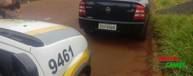 Veículo roubado em Londrina é recuperado na Estrada Esperança em Cambé.