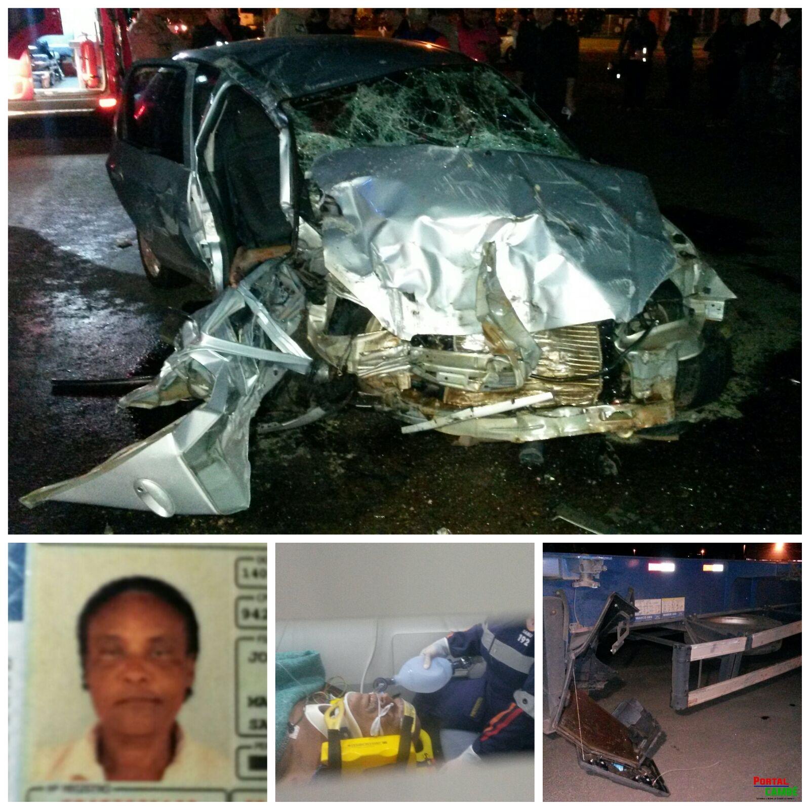 Acidente entre Rolândia de Cambé deixa uma pessoa morta e outra gravemente ferida