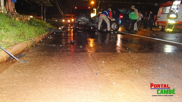 Acidente grave deixa três pessoas feridas na BR-369 em Cambé