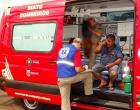 Acidente no Jd. Novo Bandeirantes em Cambé deixa três pessoas feridas
