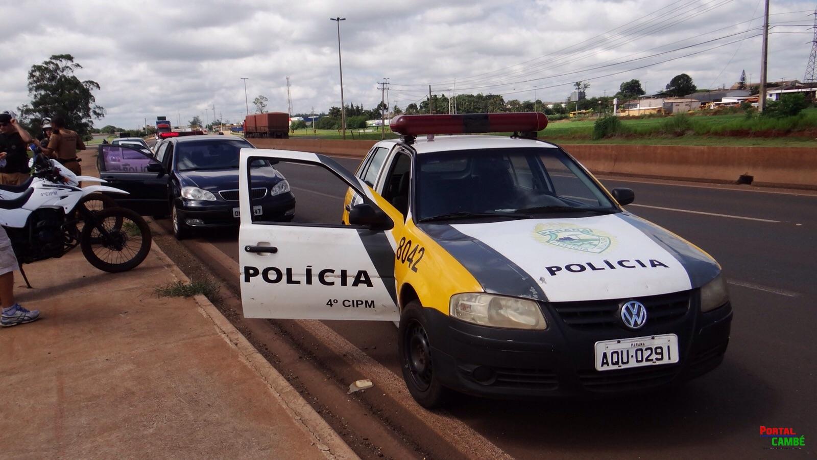 Veículo roubado em Londrina é encontrado abandonado na PR 445 em Cambé