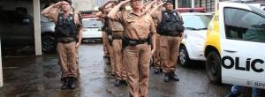 Polícia Militar de Cambé presta homenagem a policial morto no exercício do dever