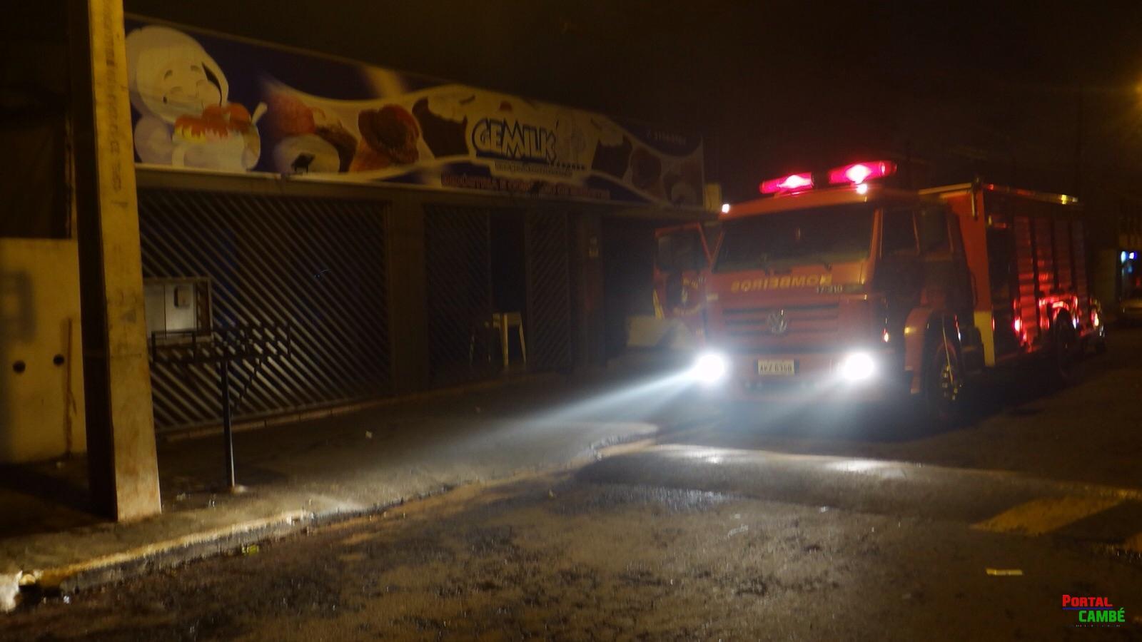 Princípio de incêndio atinge sorveteria no Jardim Novo Bandeirantes em Cambé