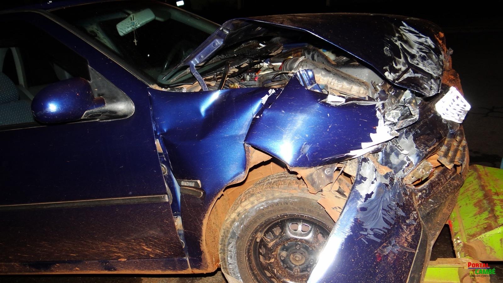 Colisão entre dois veículos deixa duas pessoas feridas na Estrada do Caramuru em Cambé