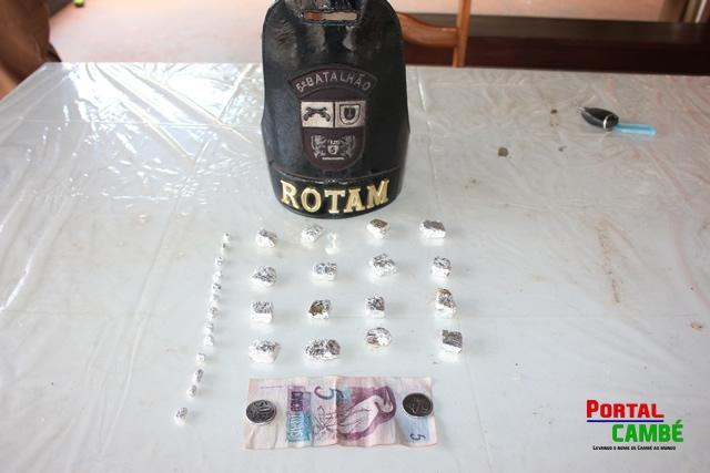 Polícia Militar de Cambé apreende menor de 15 anos com drogas no Jardim Ana Rosa