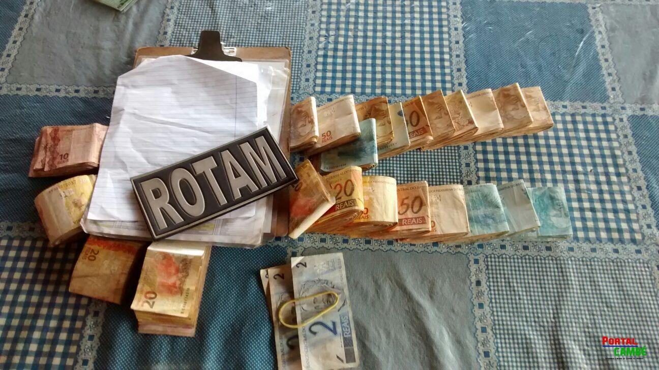 Polícia Militar apreende grande quantidade de dinheiro oriundo do tráfico de drogas